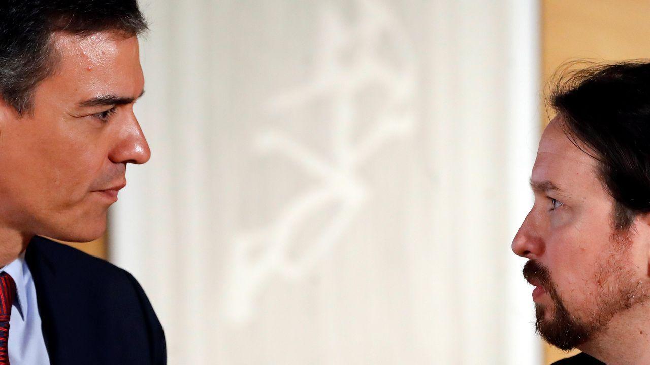 Celaá: «Es una pretensión inasumible sacrificar el interés general al interés de una persona».Pedro Sánchez y Pablo Iglesias se reunieron este martes en el Congreso de los Diputados
