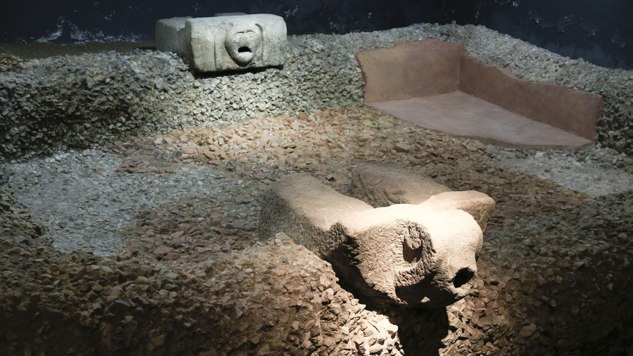 En el Centro Arqueolóxico de San Roque hay un estanque ritual romano