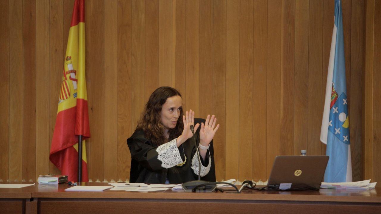 La jueza Marta Canales, durante el juicio por la propiedad del pazo de Meirás