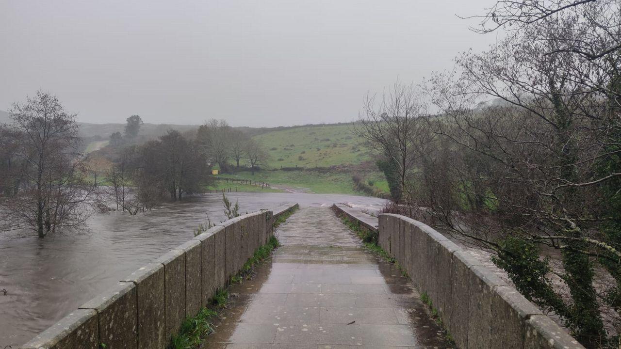 Los ríos de Barbanza se desbordan.Rio Beba, Mazaricos