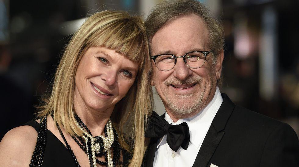 Steven Spielberg y su mujer Kate Capshaw.