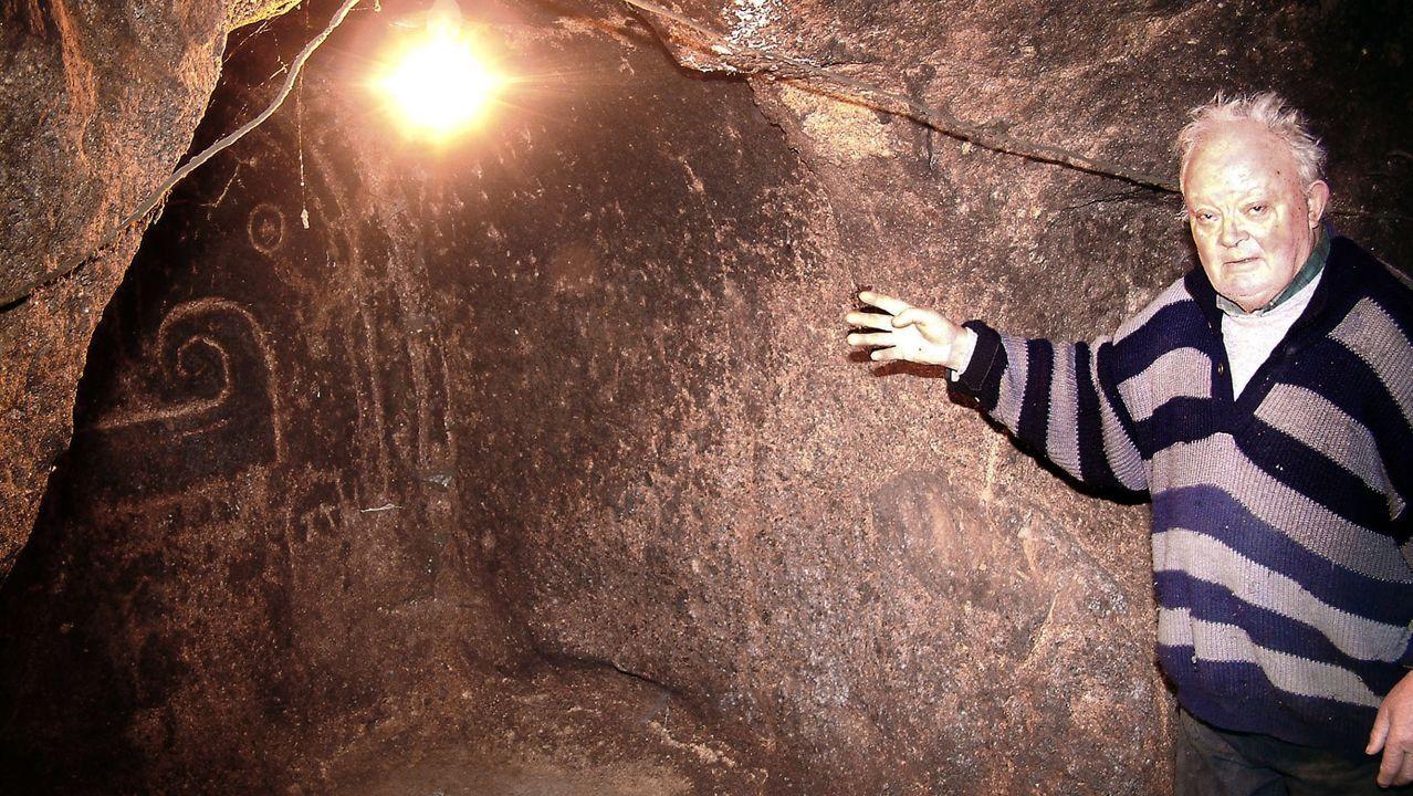 Una bodega rupestre de O Cotillón, en Pantón, fue probablemente un eremitorio en los primeros siglos medievales