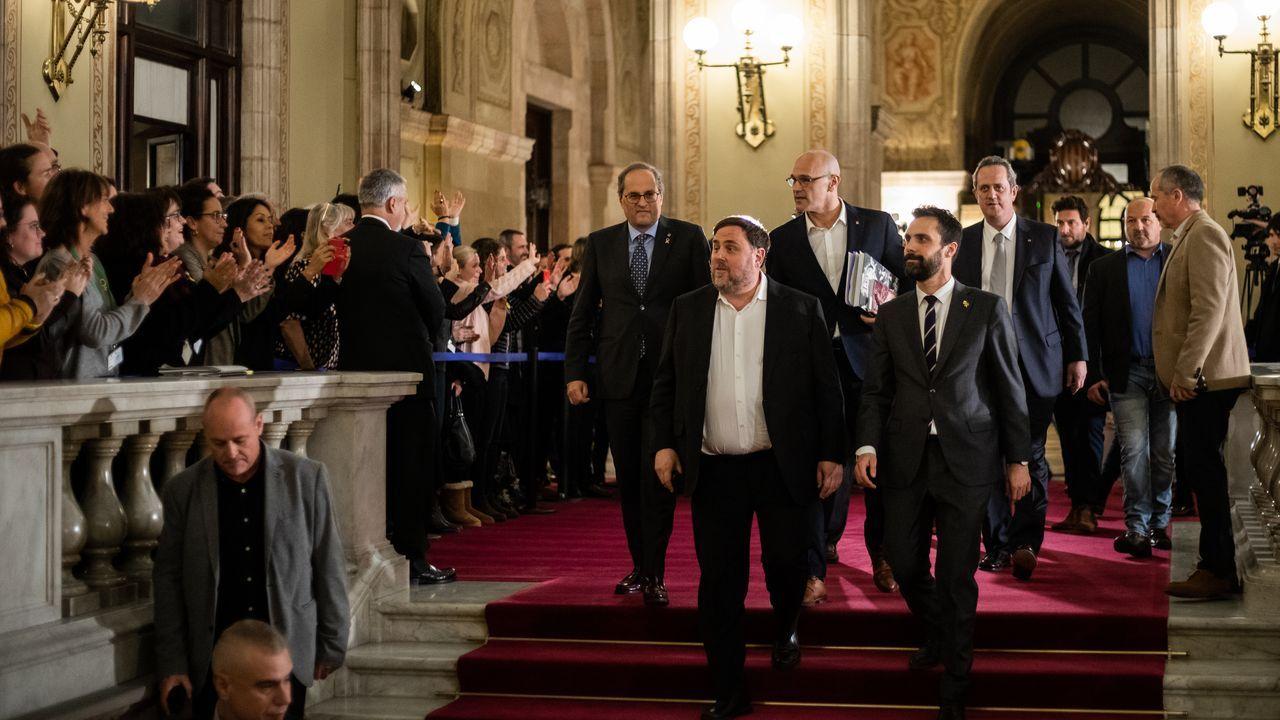 Vista del pleno del Parlamento de Cataluña