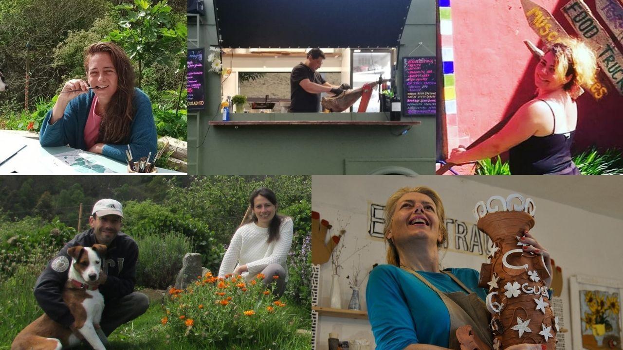 El Festival Internacional de Xardíns abrió sus puertas.Laura Freyro, Juan Carlos García, Lidia Jaldo, Enzo Elia, Isabella Argentieri y Edel Rzepka