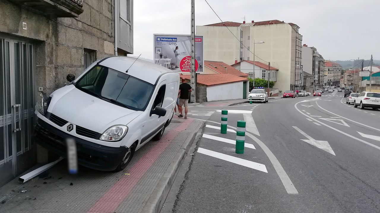 El accidente tuvo lugar en el tramo de la N-120 que pasa por Quinza, en Ribadavia