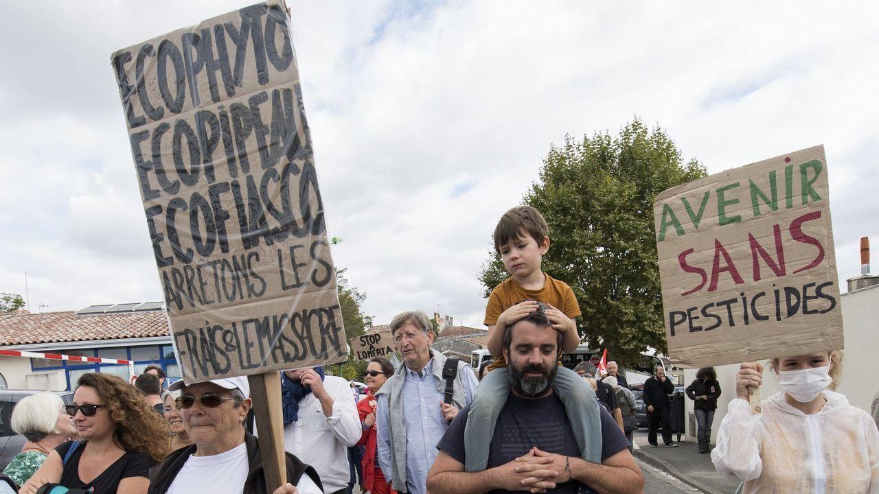 Manifestación contra los pesticidas en Francia