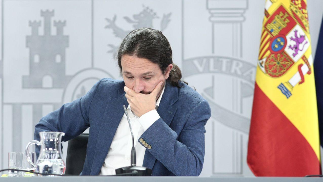 Pablo Iglesias, el pasado día 7 de julio en una rueda de prensa tras la celebración del consejo de ministros