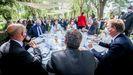 Teresa Ribera, el lunes, durante una comida con directivos de compañías eléctricas