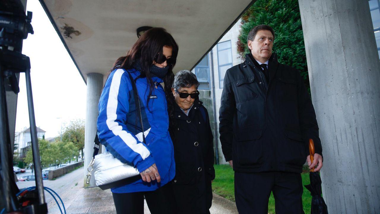 La familia de Diana Quer llega a los juzgados para la tercera sesión del juicio