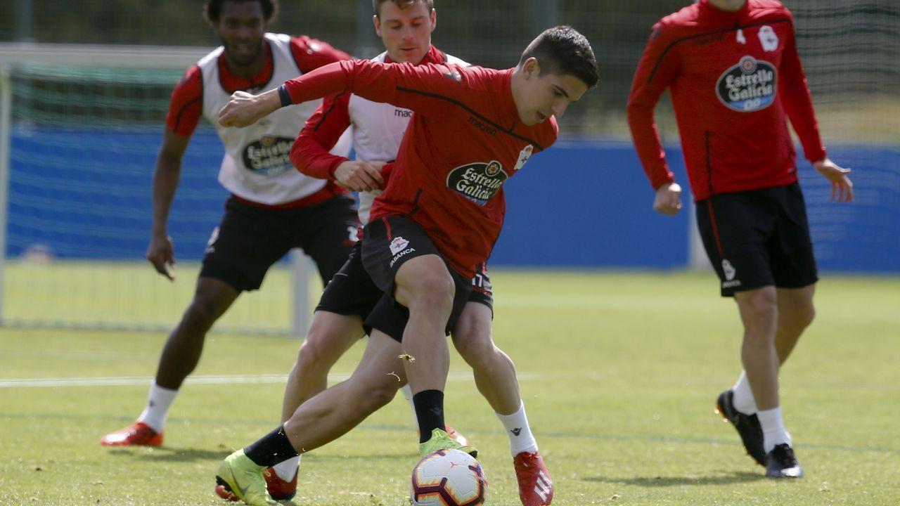 Víctor García pugna con Caballo en el entrenamiento