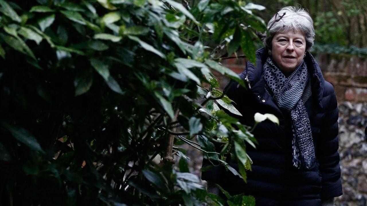 La primera ministra británica afronta una semana clave para el «brexit»