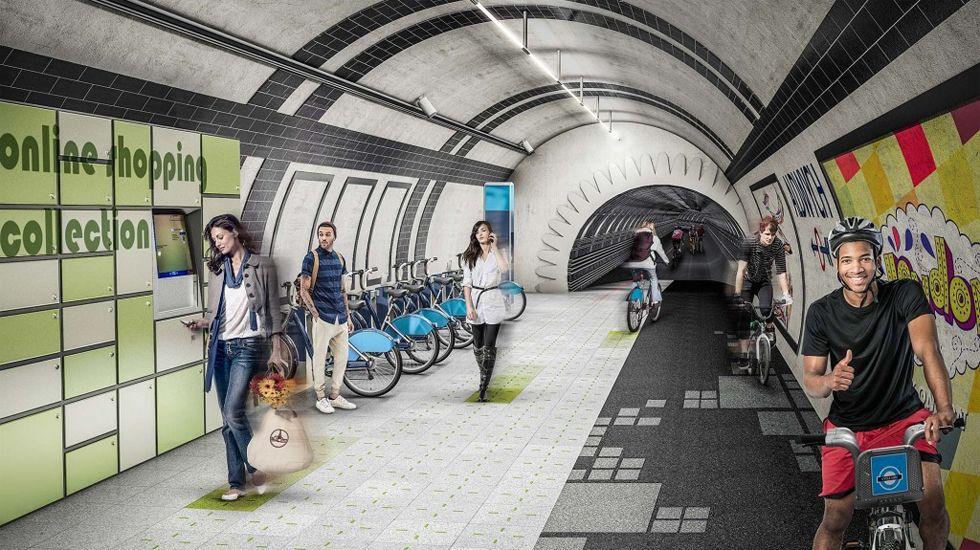 Una de las simulaciones del proyecto «London Underline»