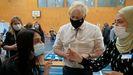 Johnson, durante una visita a un centro de vacunación en Londres