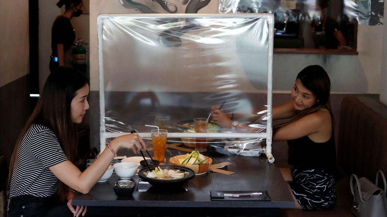 Restaurante de Bangkok que se adapta a las restricciones