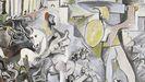 Detalle de la versión de «El rapto de las Sabinas», de Picasso, que toma como referencia el cuadro de Poussin.