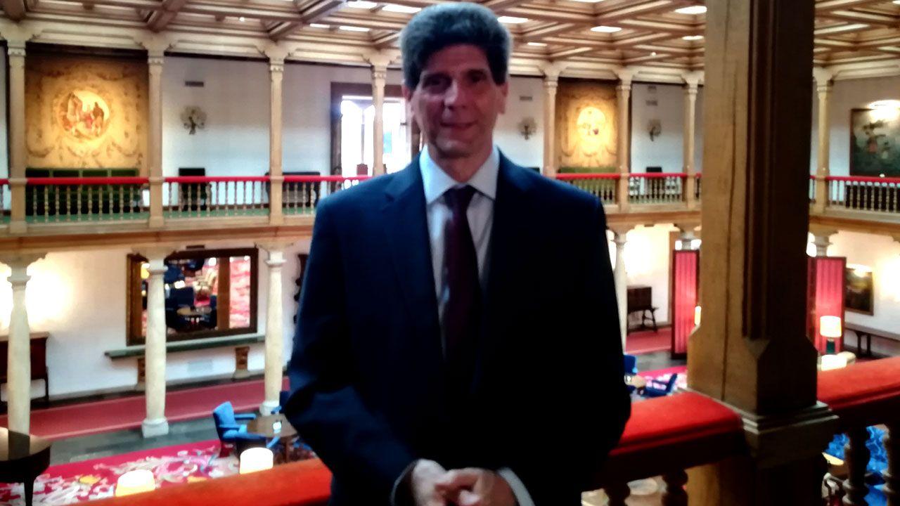 Alan Goodman, en el Hotel de la Reconquista de Oviedo