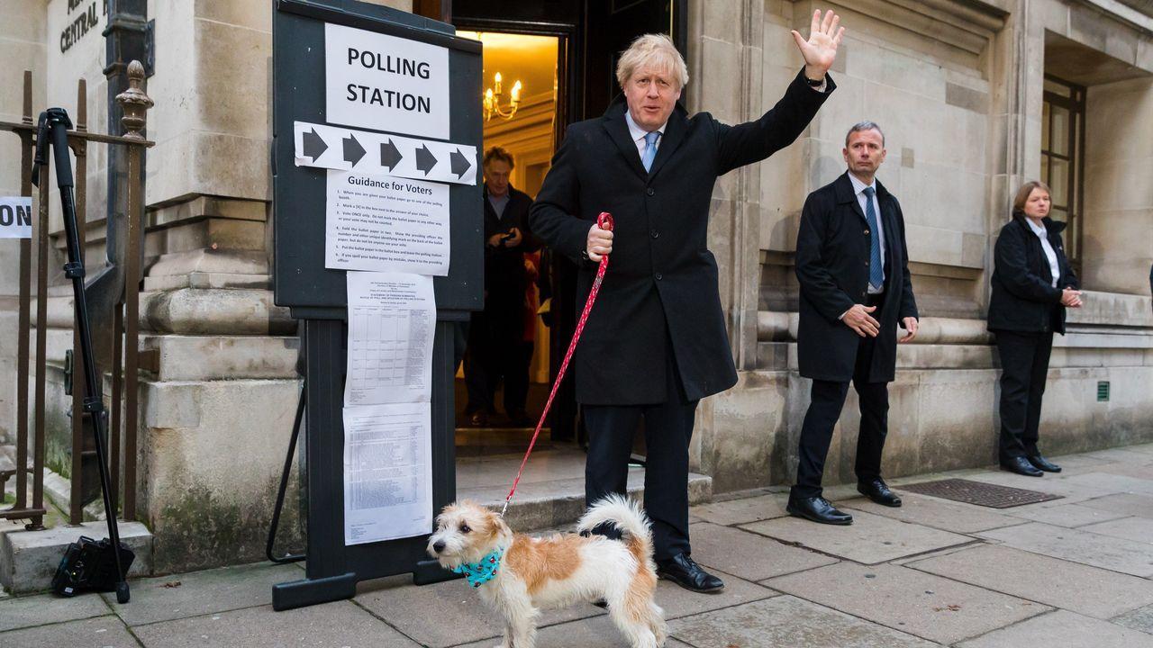 Centro de votación en las elecciones generales del Reino Unido