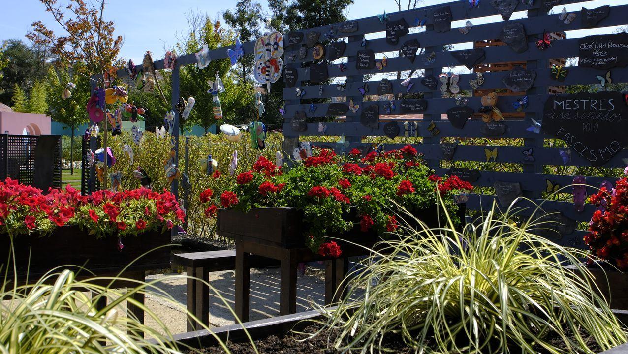 As bolboretas da memoria. Este es el jardín realizado por los alumnos del IES de Allariz cuya inspiración fue «La lengua de las mariposas», rodada en el municipio alaricano.