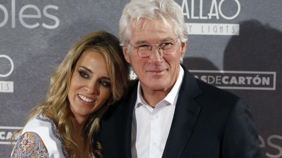 Richard Gere y la gallega Alejandra Silva posan juntos por primera vez