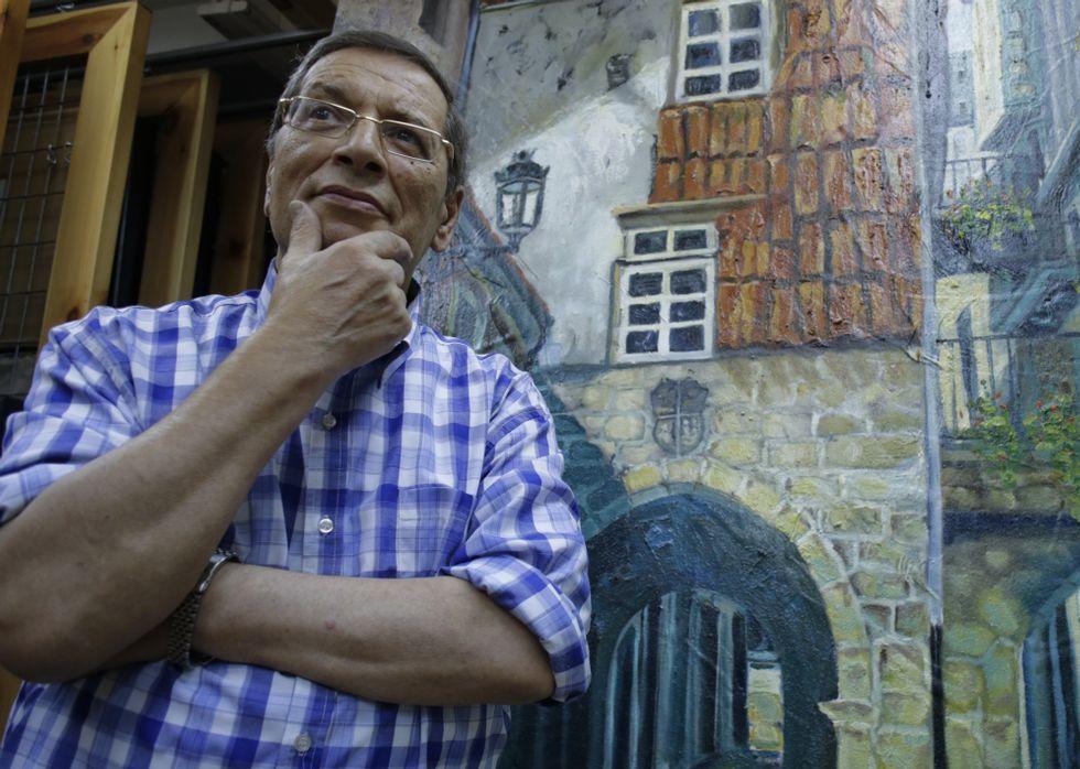 Romero, en el estudio que tiene en A Coruña, que compagina con un segundo taller en Londres.