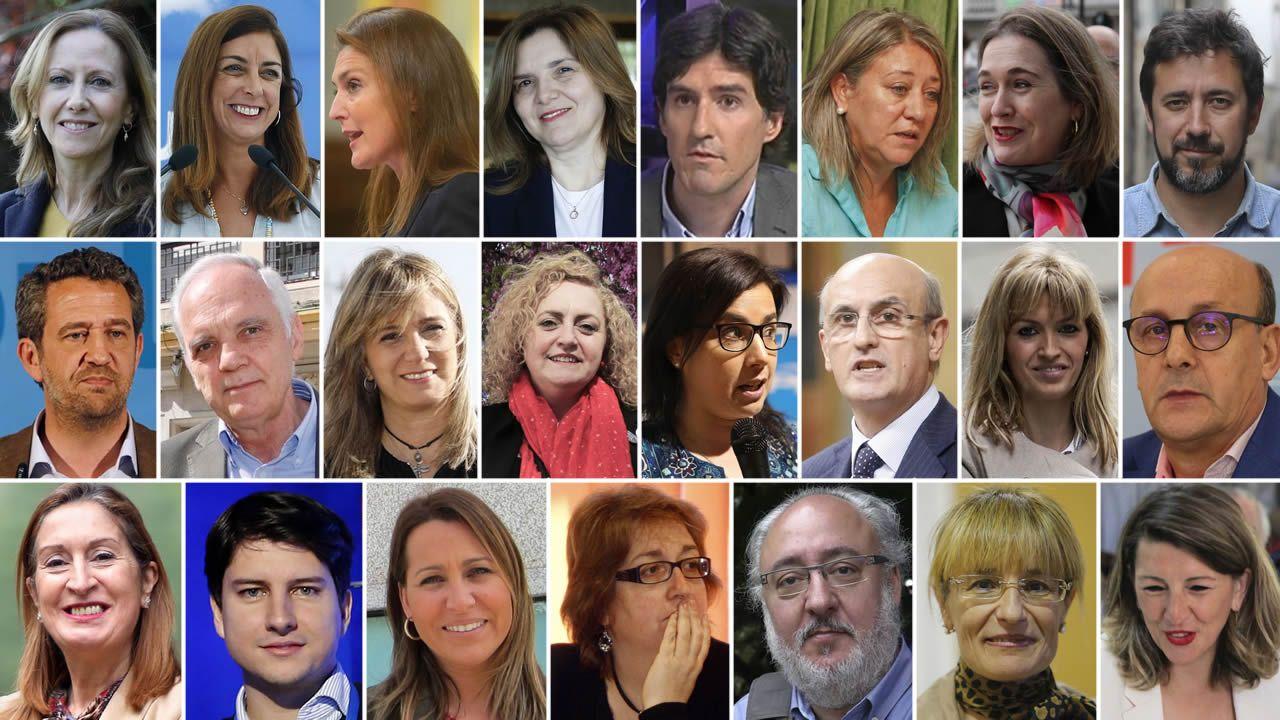 Los diputados gallegos que entrarán en el Congreso
