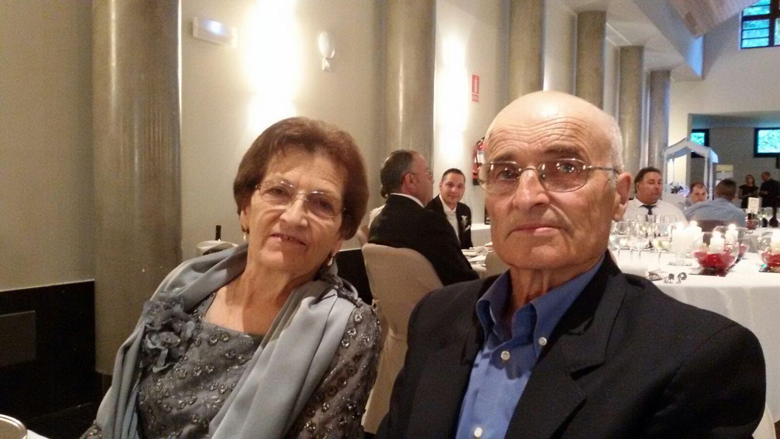 El matrimonio Arango, formado por Pilar y Robustiano, al que se le quemó la casa el día de Nochevieja
