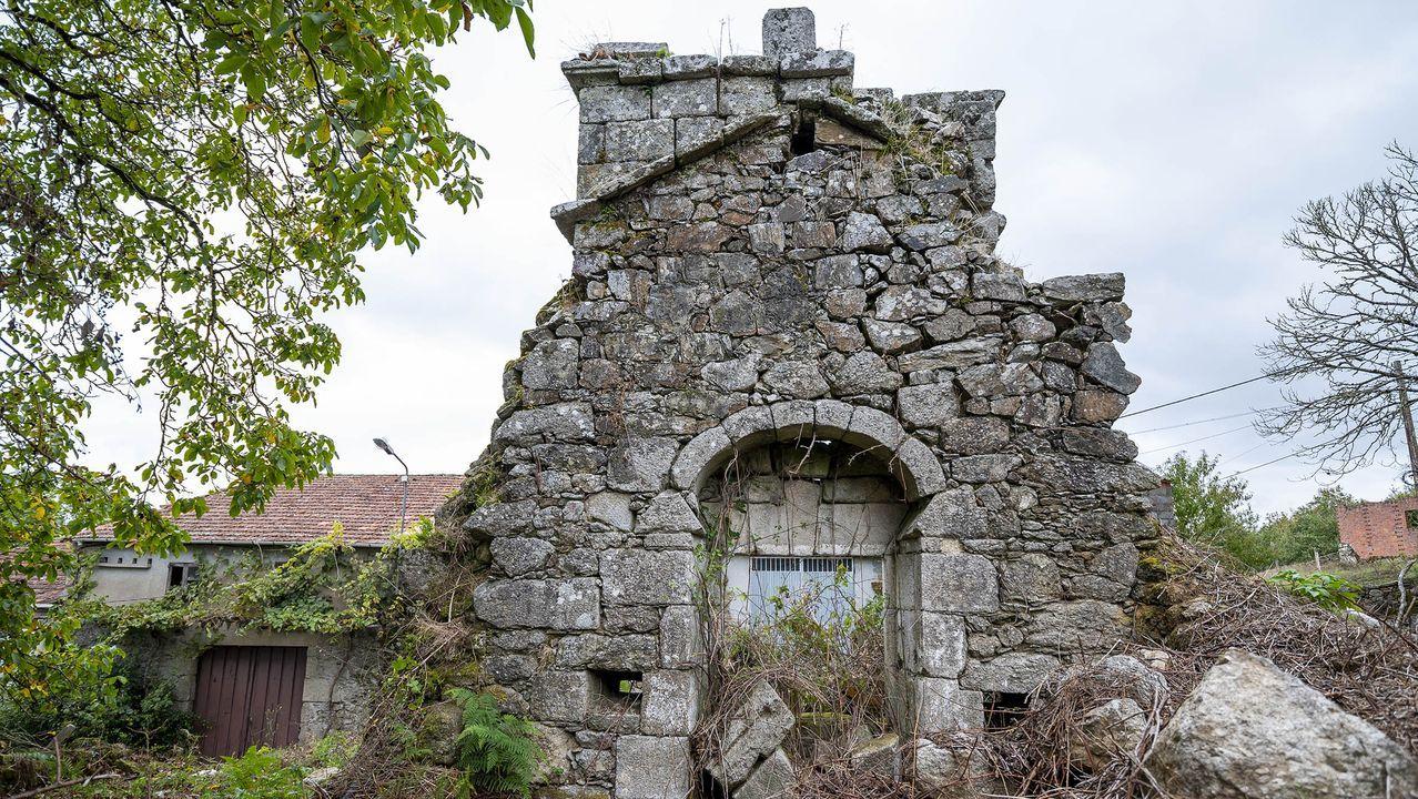 Otra vista de las ruinas de la antigua iglesia de Montecelo