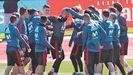 La selección ya está en Düsseldorf para medirse a Alemania