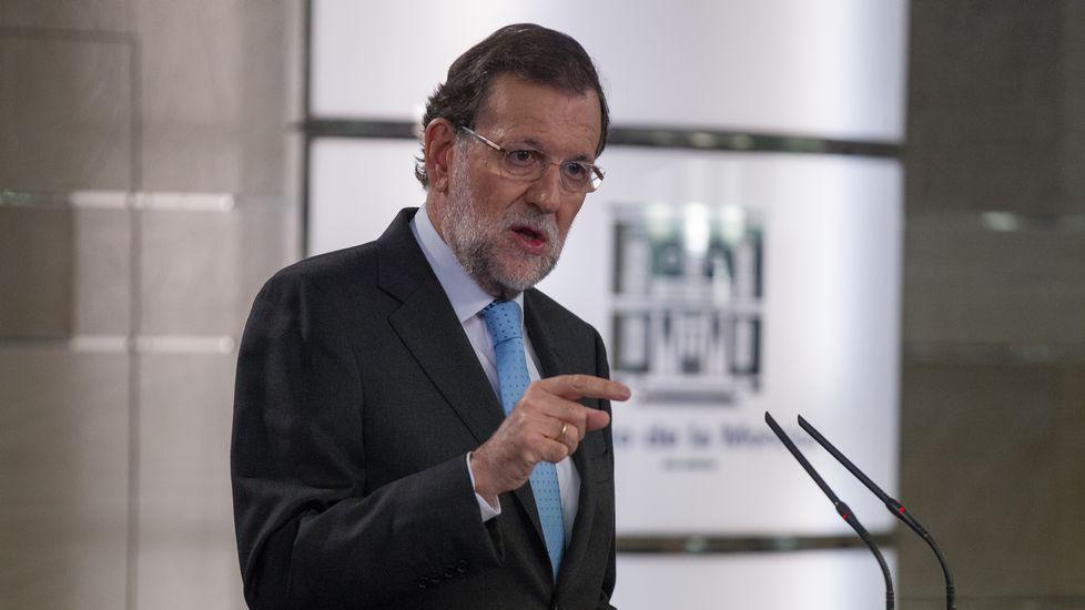 Rajoy: «Ofrecen acabar con la democracia, yo no lo voy a permitir»