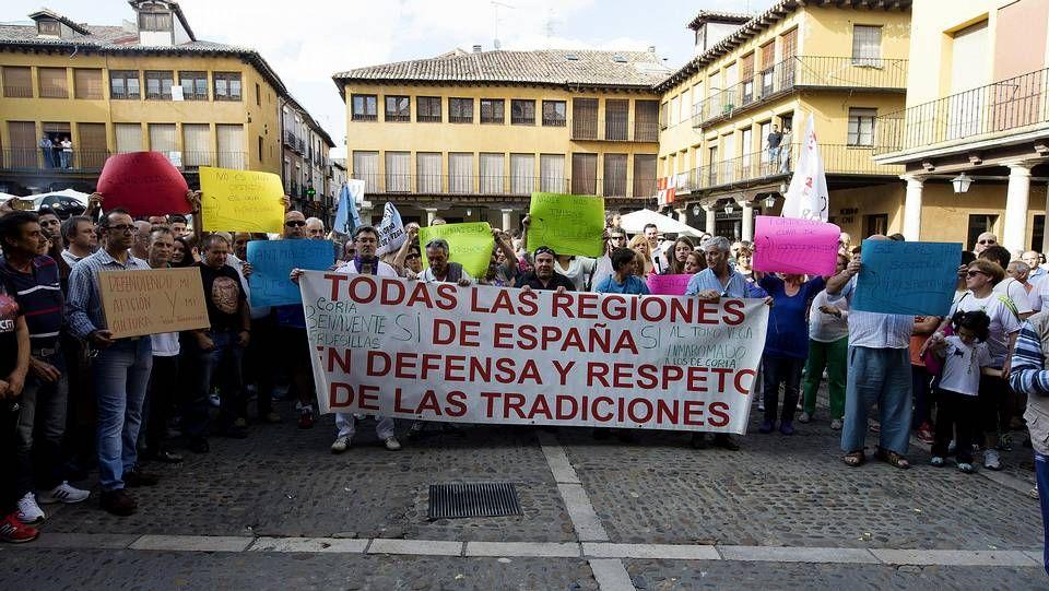 Pide que no maten a Excalibur.Protesta de esta mañana en Lugo
