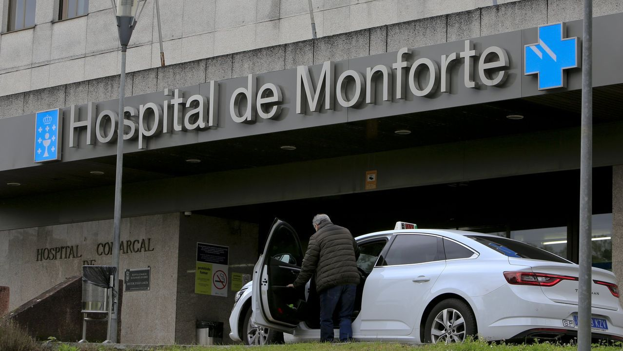 Exterior del hospital comarcal de Monforte