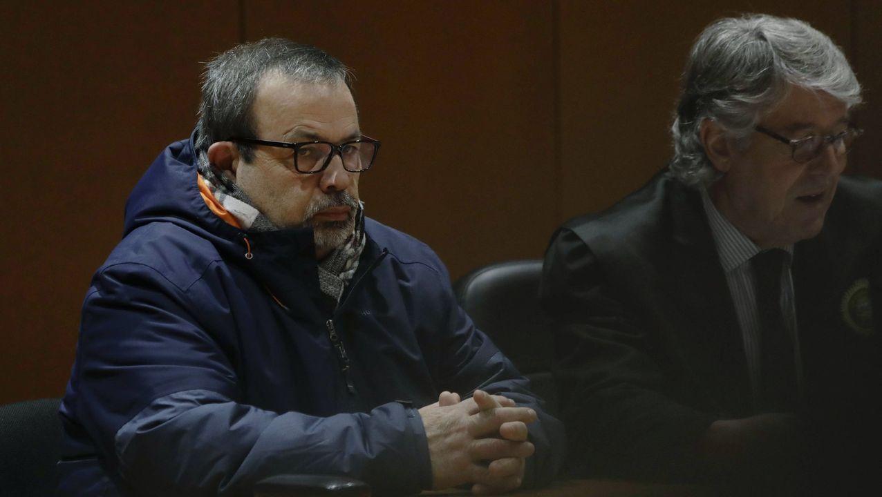 Óscar Fernández Nieves, exresponsable del concesionario de coches SS Fernández de Santiago, durante su declaración en el juicio