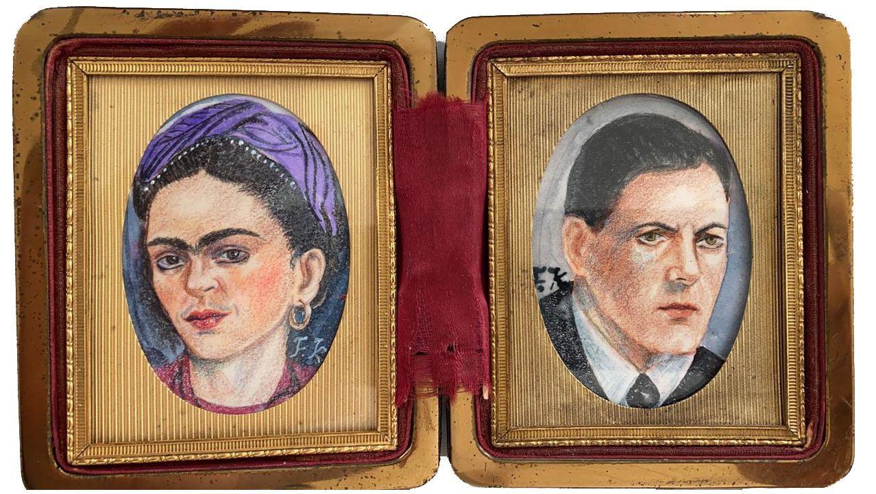 Así se vivió la primera jornada de la temporada de pesca fluvial en Galicia.Retratos de Frida Kahlo y Alexandre Finisterre pintados por la artista mexicana
