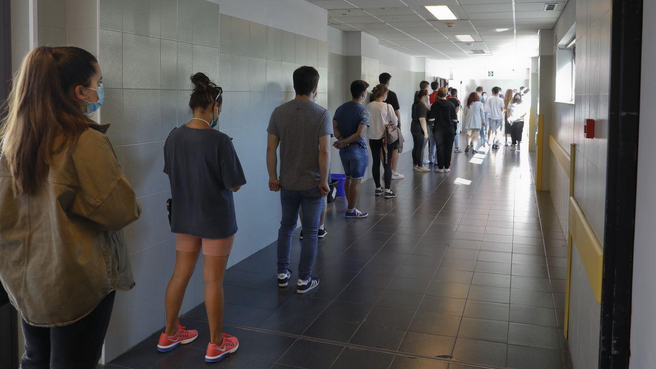 En el cribado participaron el primer dia menos del 44 % de los jóvenes citados