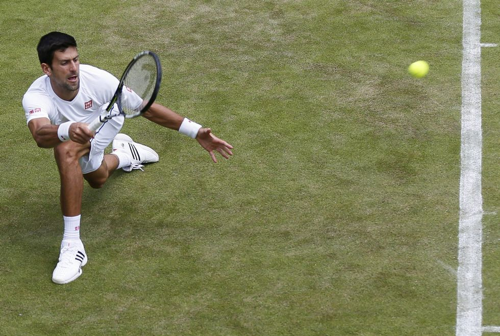Novak Djokovic ya ganó en la pista central de Wimbledon en dos ocasiones anteriores.