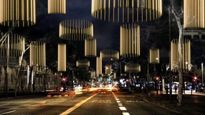 Así será la iluminación navideña de Barcelona