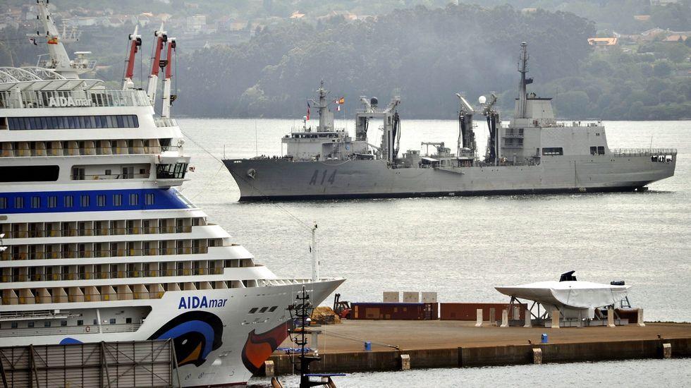 El «Patiño»regresando a Ferrol tras un operativo