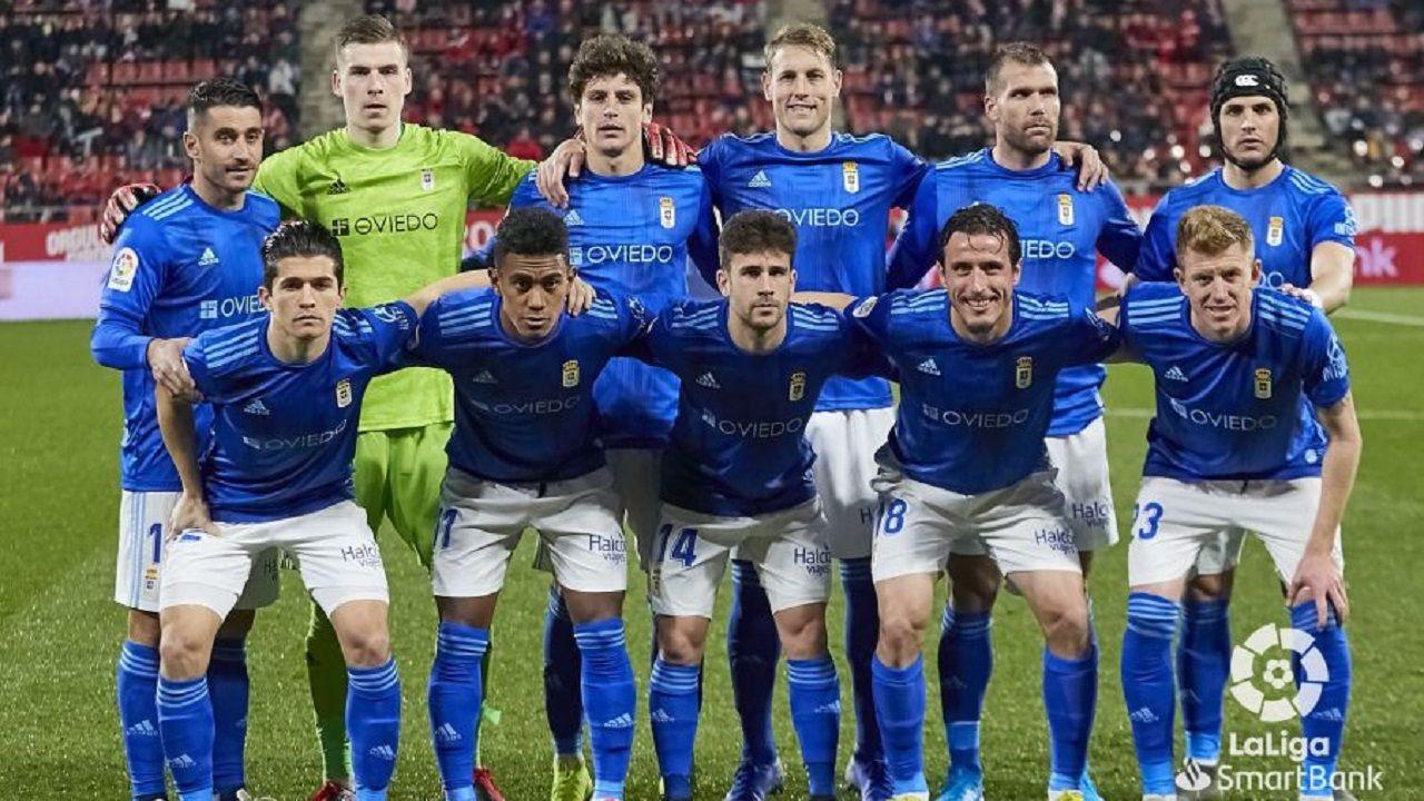 alineacion girona Real Oviedo Montilivi.Alineación del Real Oviedo ante el Girona