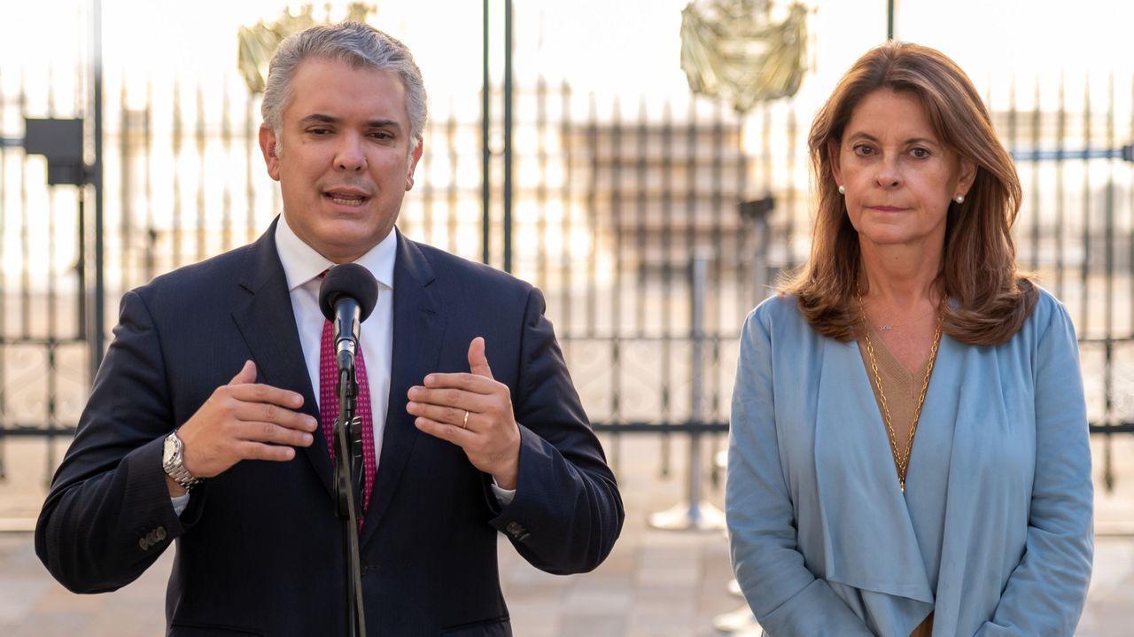 Iván Duque, junto a su vicepresidenta, Marta Lucía Ramírez