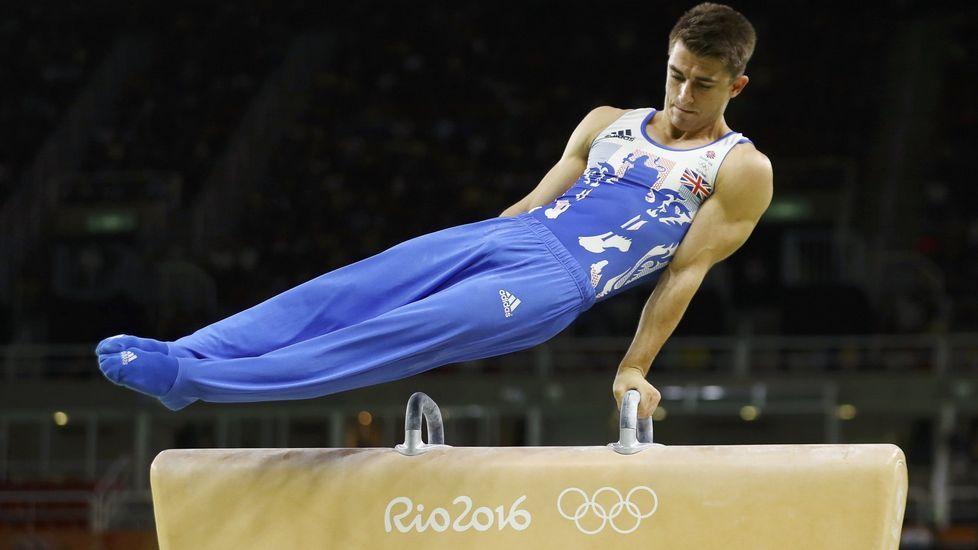 El gimnasta Max Whitlock consiguió el metal dorado en suelo y caballo con arzones y un bronce en general individual masculino