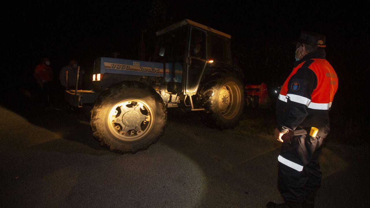 El tractor del fallecido