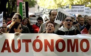 Manifestación de autónomos en Madrid.