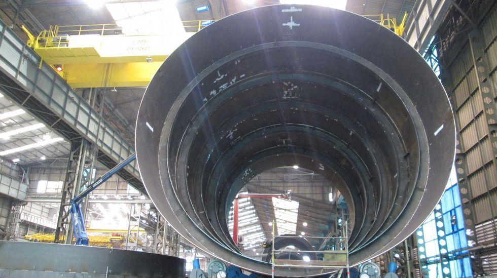 Las superestructuras están formadas por anillos de acero