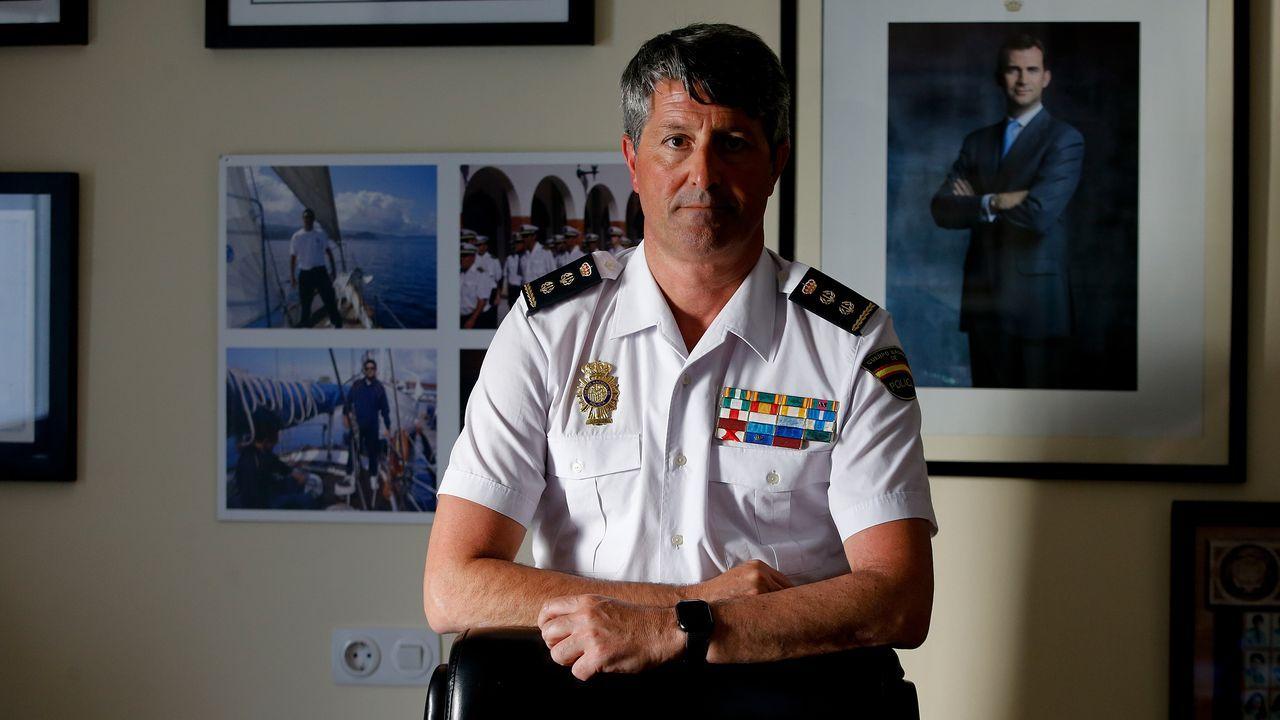 El comisario Pedro Agudo dirige la brigada de Policía Judicial de la Policía Nacional de A Coruña.