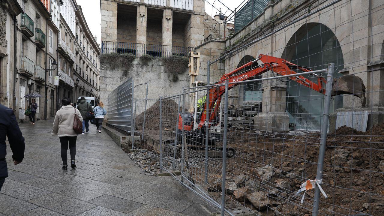 Obras Arqueolóxico.Un generador instalado en Cortegada para dar servicio a los vecinos