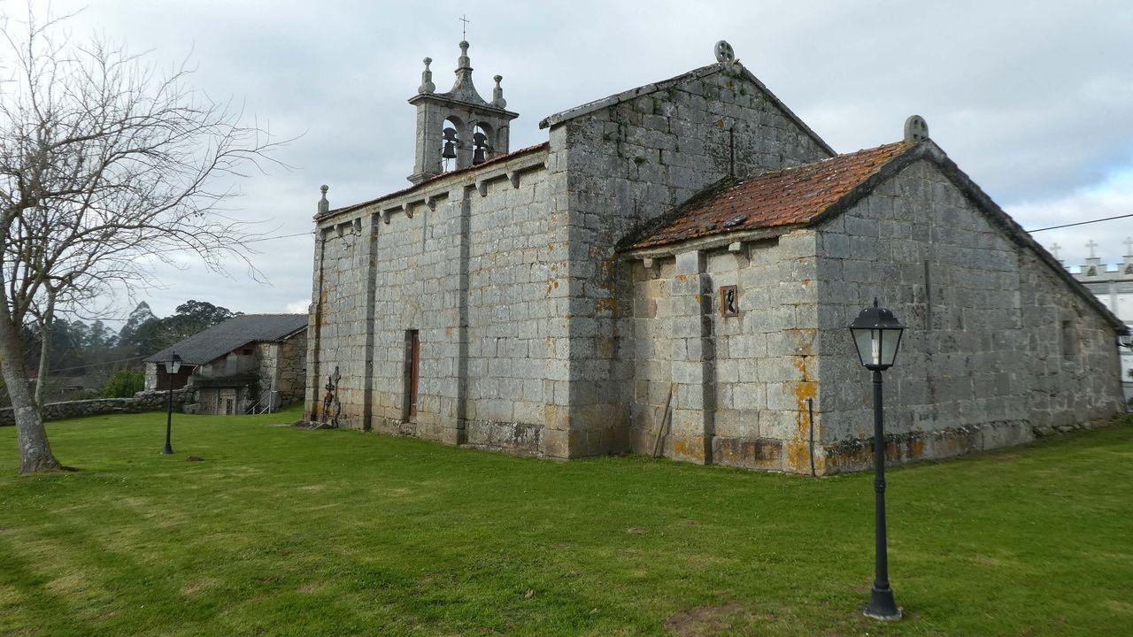 Iglesia parroquial de Vilamourel, en Paderne