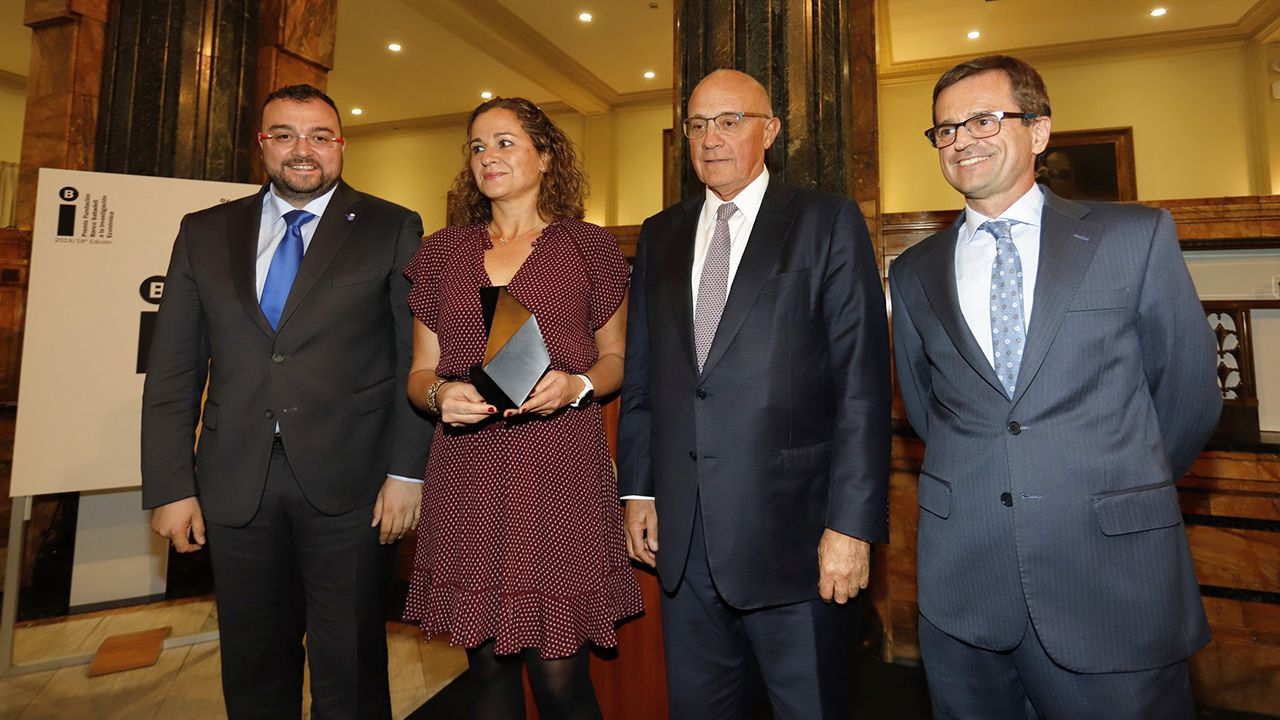 Así está siendo el Talentia Summit 2019 en Santiago.Adrián Barbón, Irma Clots, Josep Oliu y Antonio Cabrales