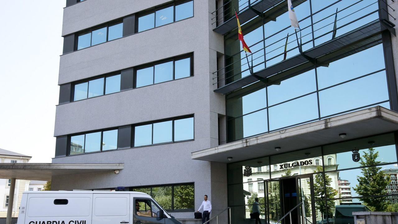 Así ha quedado el Gran Hotel de Lugo tras su reforma.Trabajadores de Alcoa de Avilés y A Coruña a su paso por León