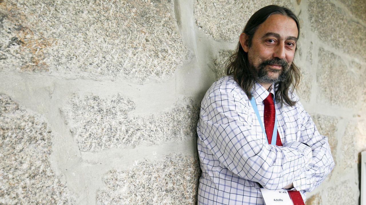 García-Sastre, en una visita a Santiago