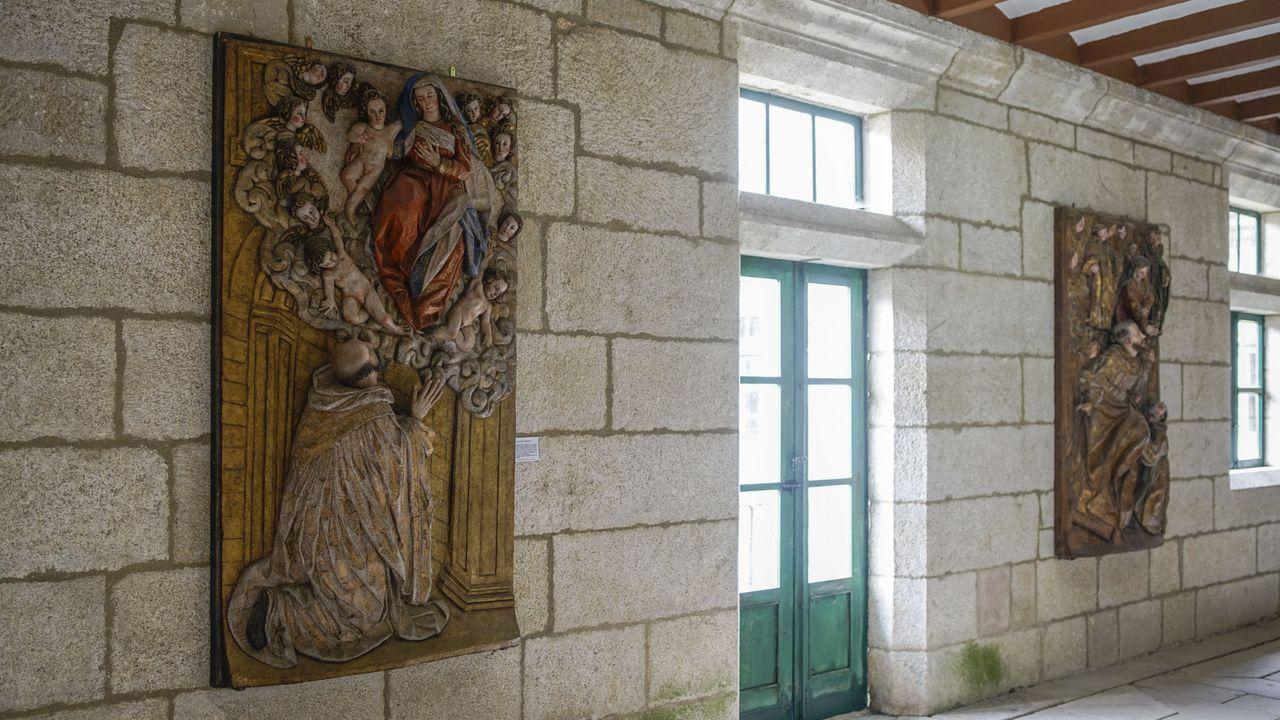 Restos del baldaquino que se hallan en el monasterio
